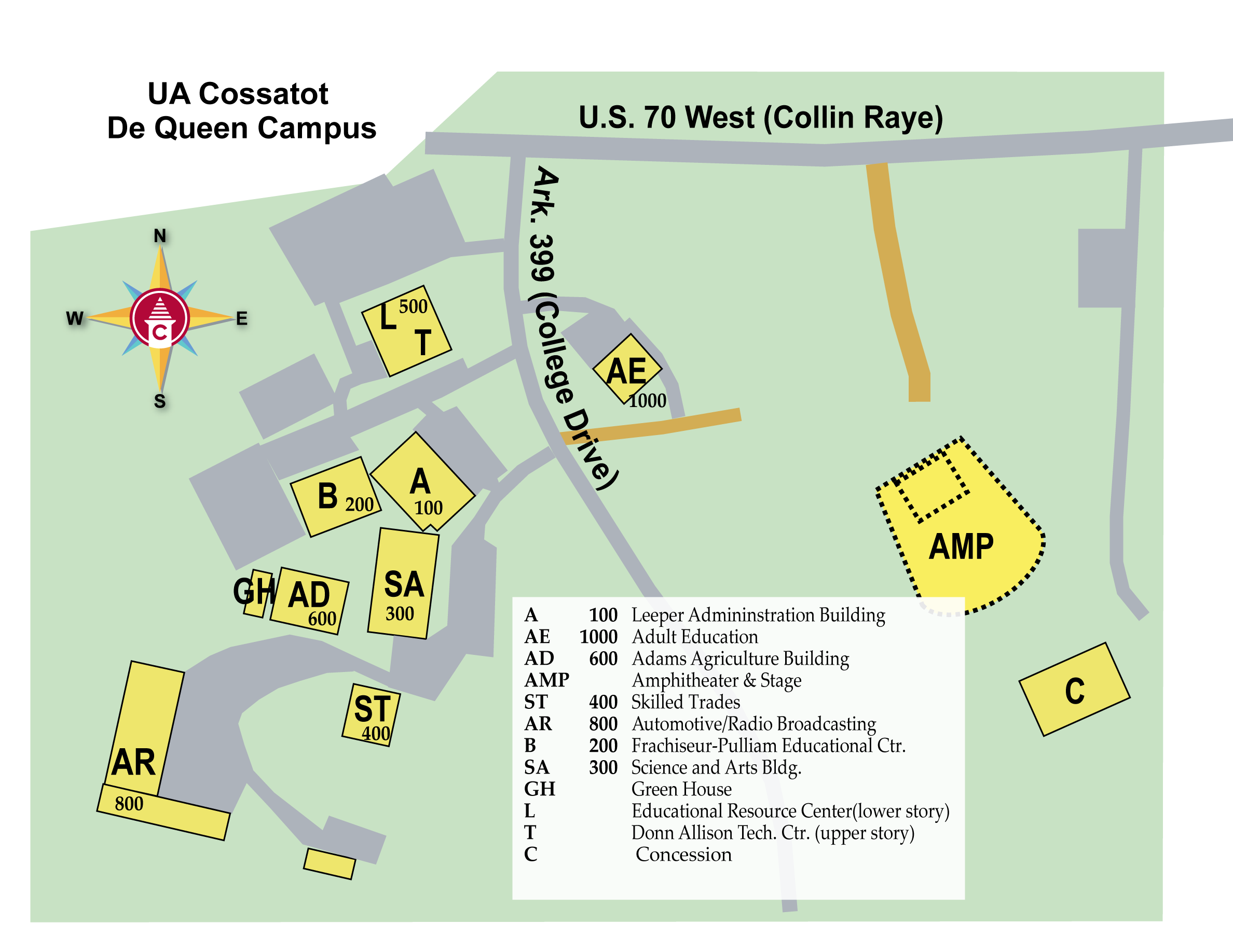 De Queen Campus Map