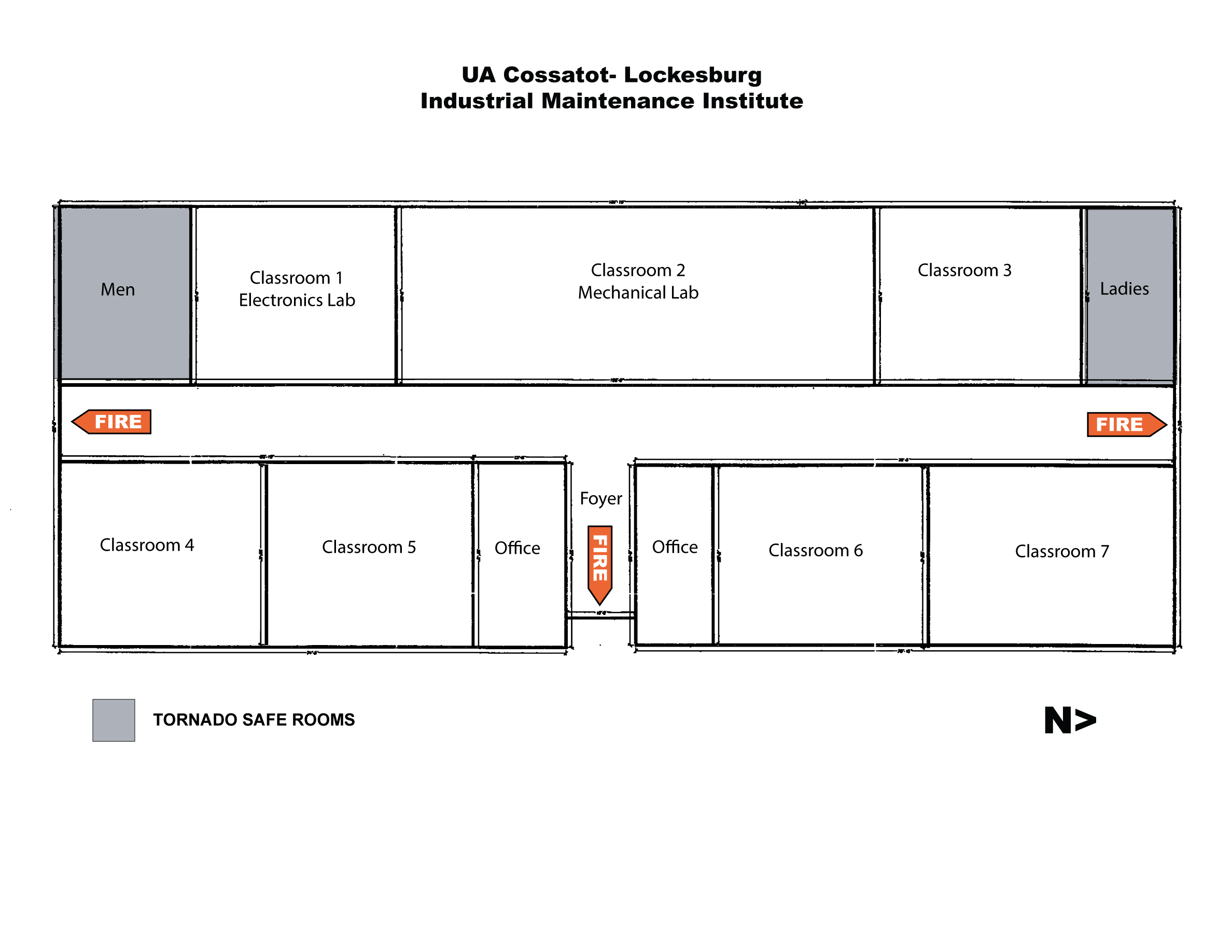 Map of the Lockesburg Industrial Maintenance Institute